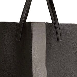 Vince Camuto Bags - Vince Camuto Black Vegan Leather Tote Bag